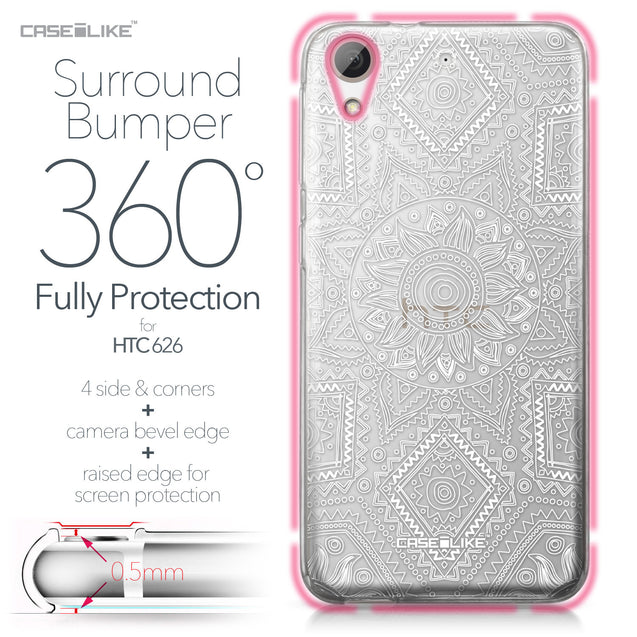 HTC Desire 626 case Indian Line Art 2061 Bumper Case Protection | CASEiLIKE.com
