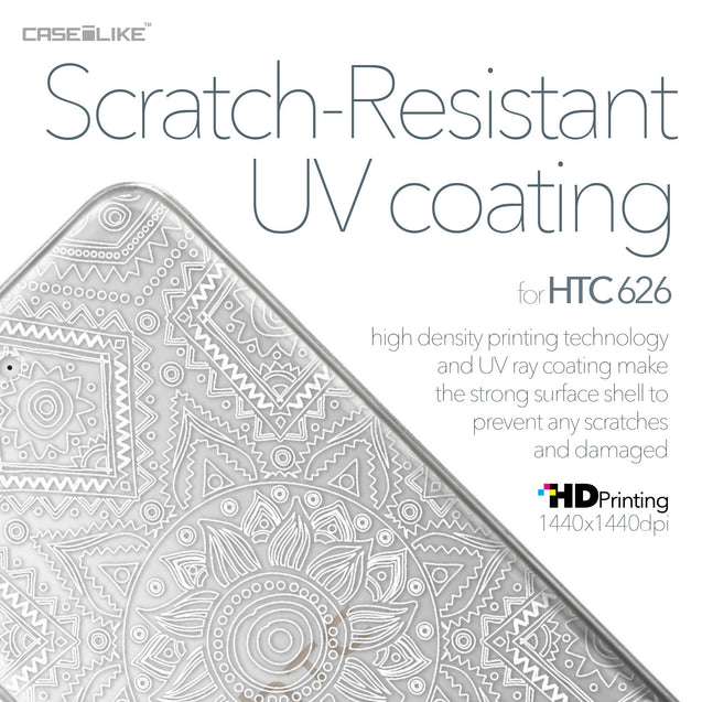 HTC Desire 626 case Indian Line Art 2061 with UV-Coating Scratch-Resistant Case | CASEiLIKE.com
