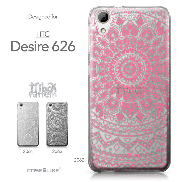 HTC Desire 626 case Indian Line Art 2062 Collection | CASEiLIKE.com