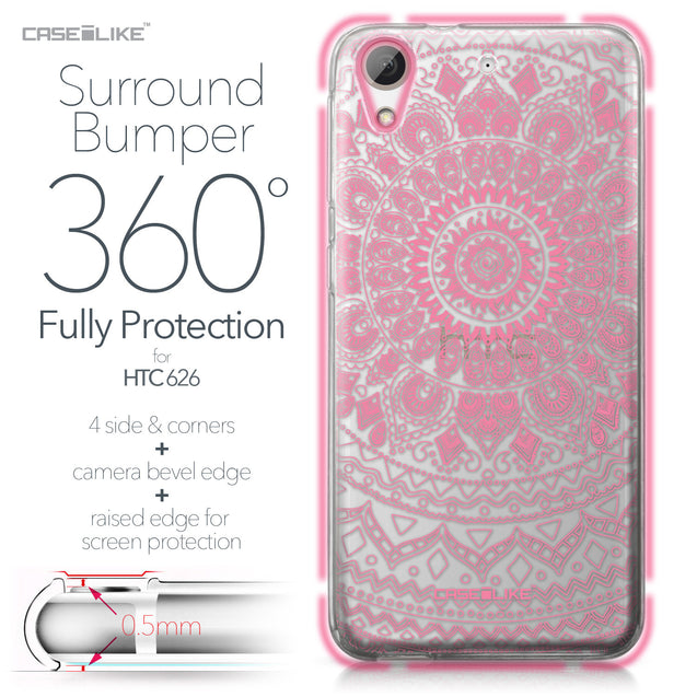 HTC Desire 626 case Indian Line Art 2062 Bumper Case Protection | CASEiLIKE.com
