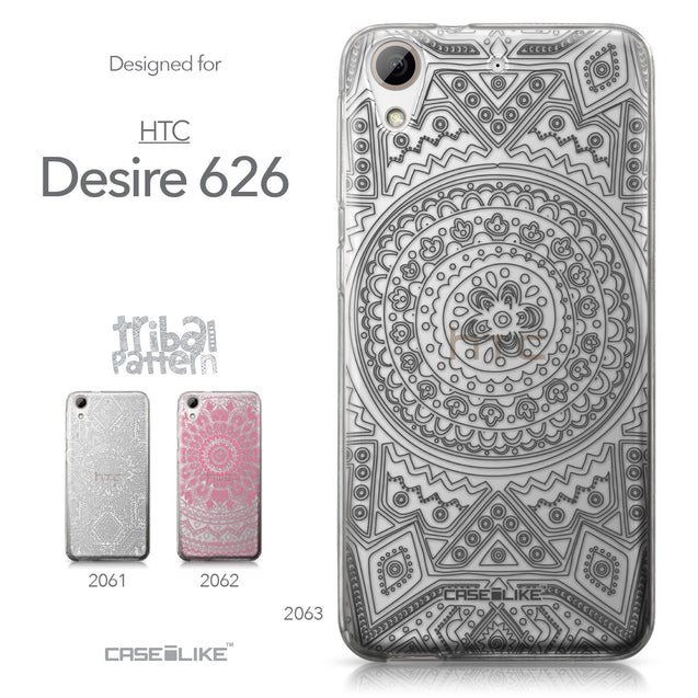 HTC Desire 626 case Indian Line Art 2063 Collection | CASEiLIKE.com