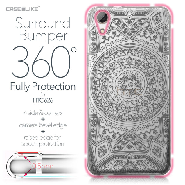 HTC Desire 626 case Indian Line Art 2063 Bumper Case Protection | CASEiLIKE.com