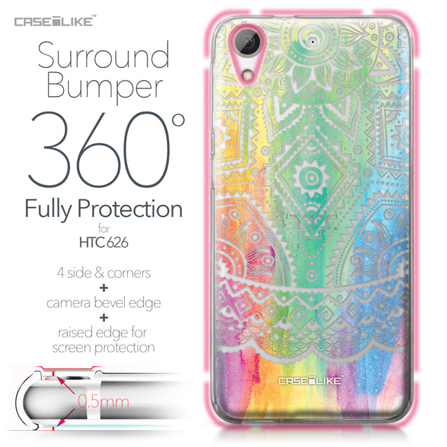 HTC Desire 626 case Indian Line Art 2064 Bumper Case Protection | CASEiLIKE.com