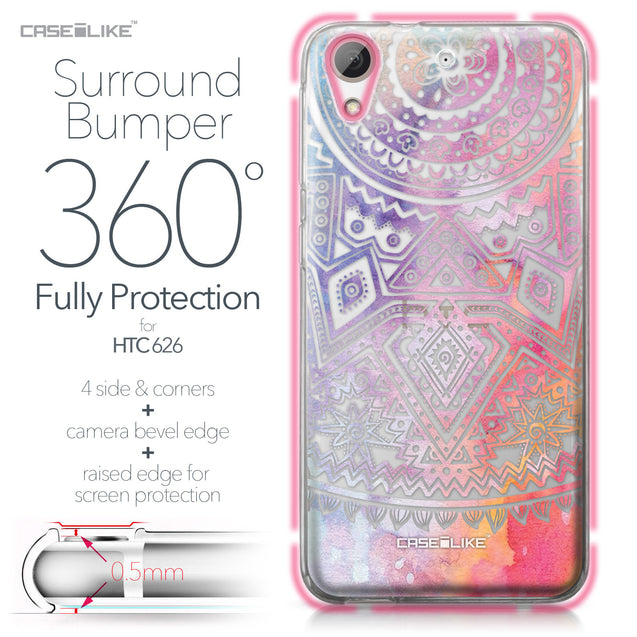 HTC Desire 626 case Indian Line Art 2065 Bumper Case Protection | CASEiLIKE.com