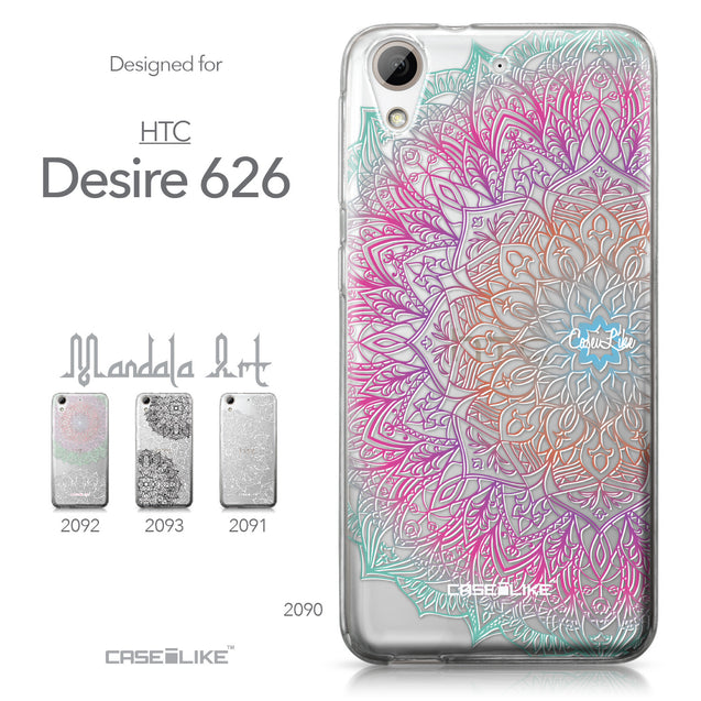 HTC Desire 626 case Mandala Art 2090 Collection | CASEiLIKE.com