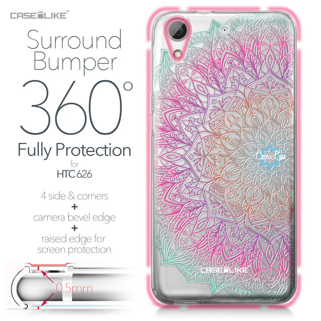 HTC Desire 626 case Mandala Art 2090 Bumper Case Protection | CASEiLIKE.com