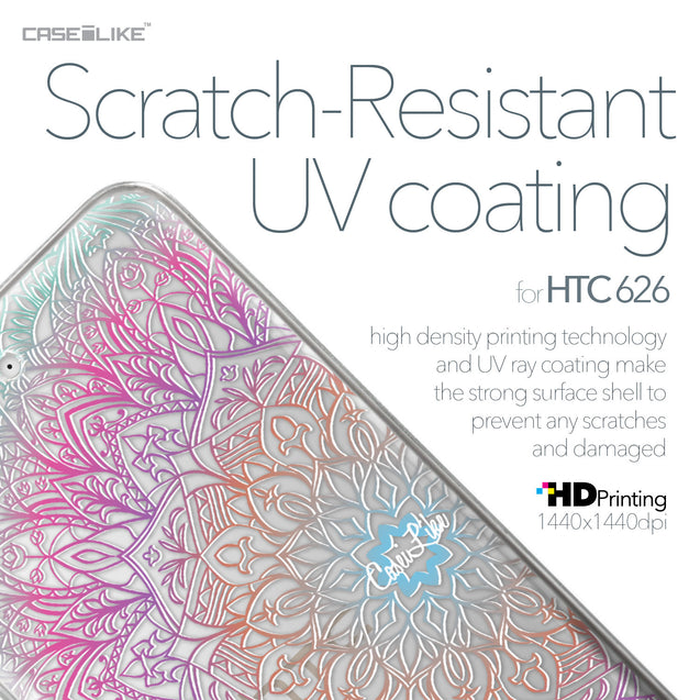 HTC Desire 626 case Mandala Art 2090 with UV-Coating Scratch-Resistant Case | CASEiLIKE.com