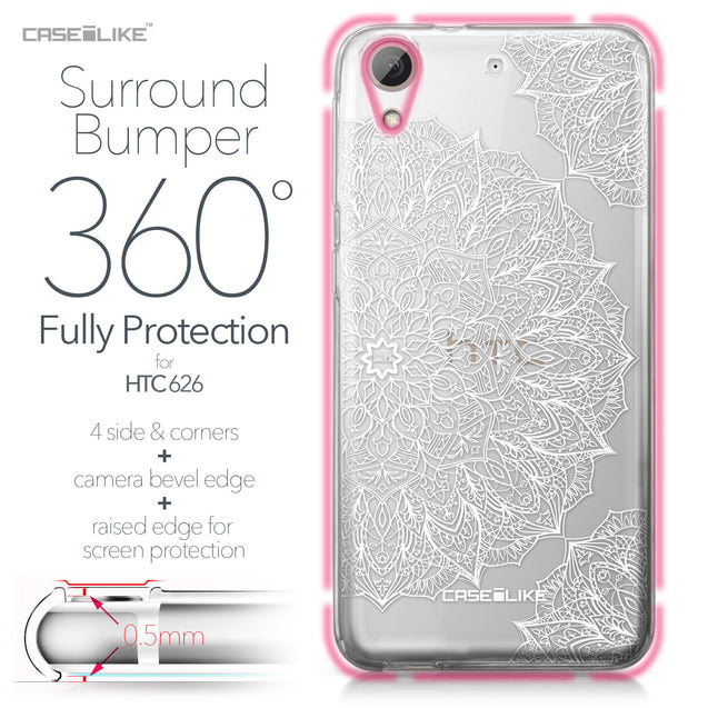 HTC Desire 626 case Mandala Art 2091 Bumper Case Protection | CASEiLIKE.com