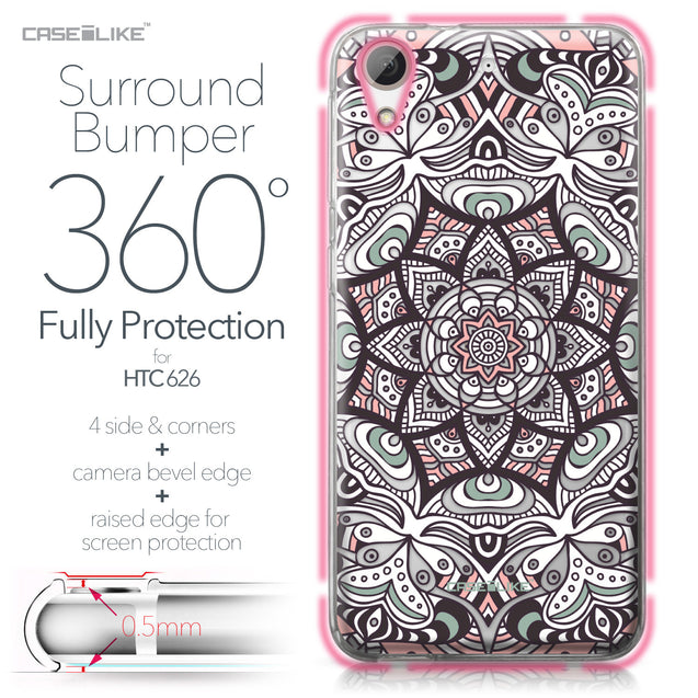 HTC Desire 626 case Mandala Art 2095 Bumper Case Protection | CASEiLIKE.com