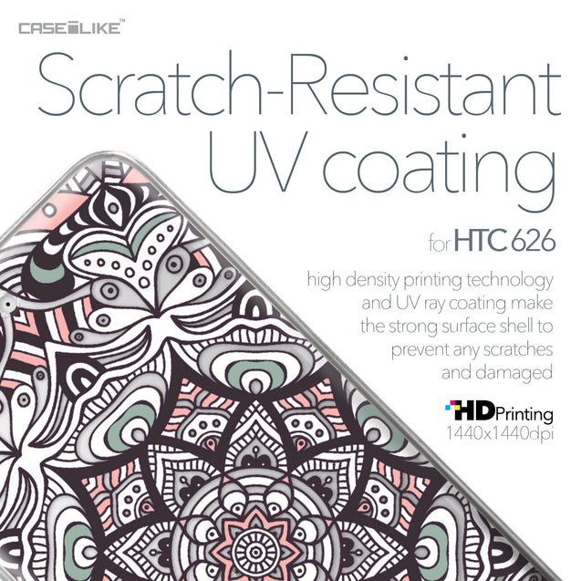 HTC Desire 626 case Mandala Art 2095 with UV-Coating Scratch-Resistant Case | CASEiLIKE.com