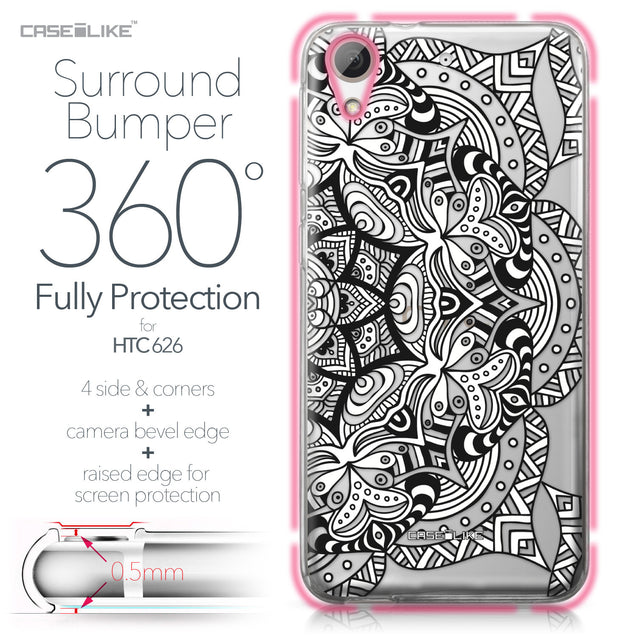 HTC Desire 626 case Mandala Art 2096 Bumper Case Protection | CASEiLIKE.com