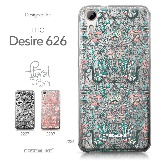 HTC Desire 626 case Roses Ornamental Skulls Peacocks 2226 Collection | CASEiLIKE.com