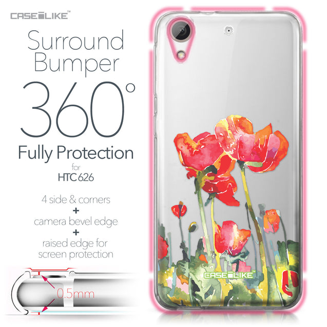 HTC Desire 626 case Watercolor Floral 2230 Bumper Case Protection | CASEiLIKE.com