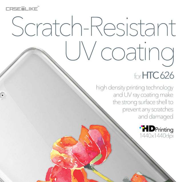 HTC Desire 626 case Watercolor Floral 2230 with UV-Coating Scratch-Resistant Case | CASEiLIKE.com