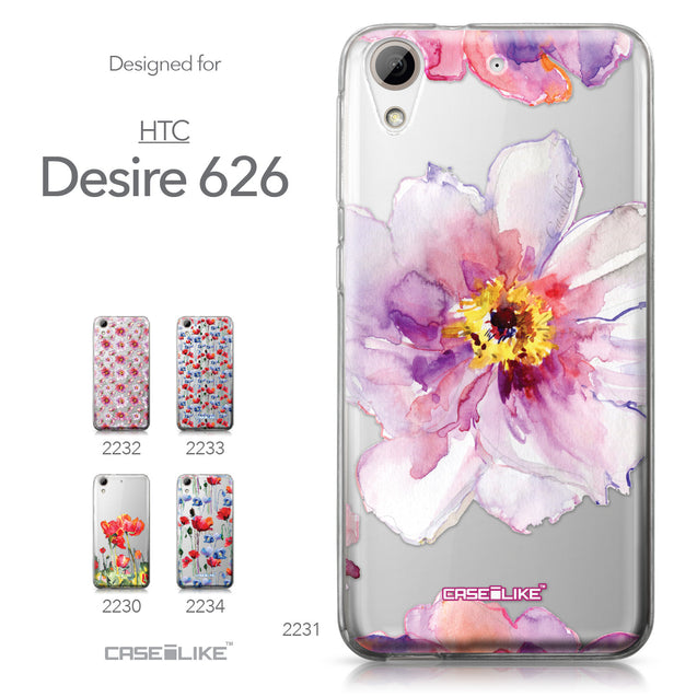 HTC Desire 626 case Watercolor Floral 2231 Collection | CASEiLIKE.com