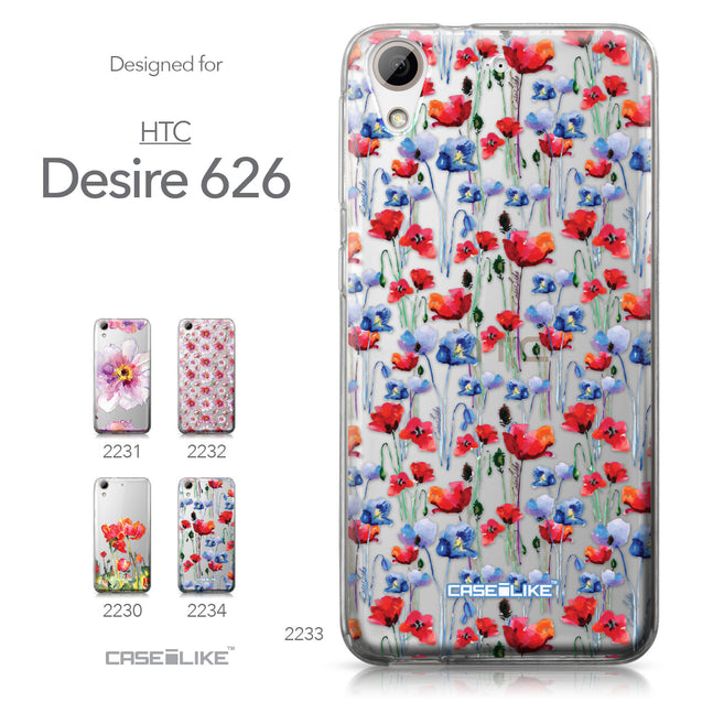 HTC Desire 626 case Watercolor Floral 2233 Collection | CASEiLIKE.com