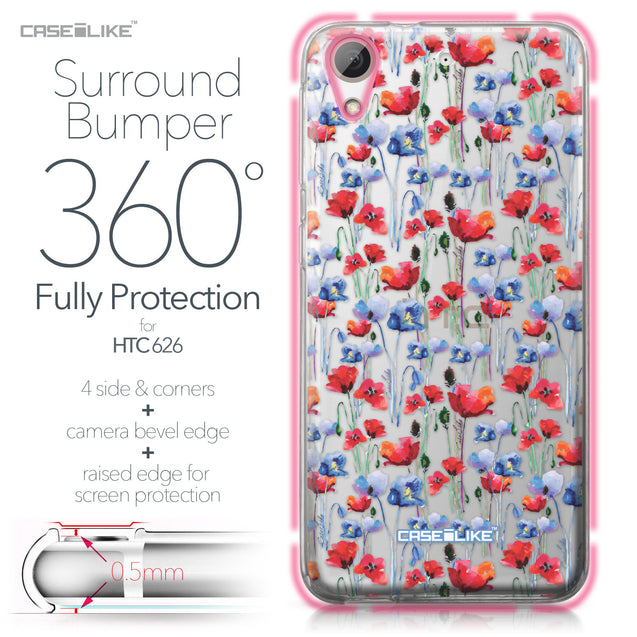 HTC Desire 626 case Watercolor Floral 2233 Bumper Case Protection | CASEiLIKE.com
