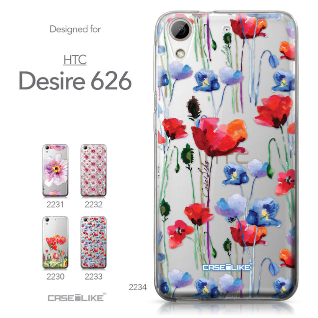 HTC Desire 626 case Watercolor Floral 2234 Collection | CASEiLIKE.com