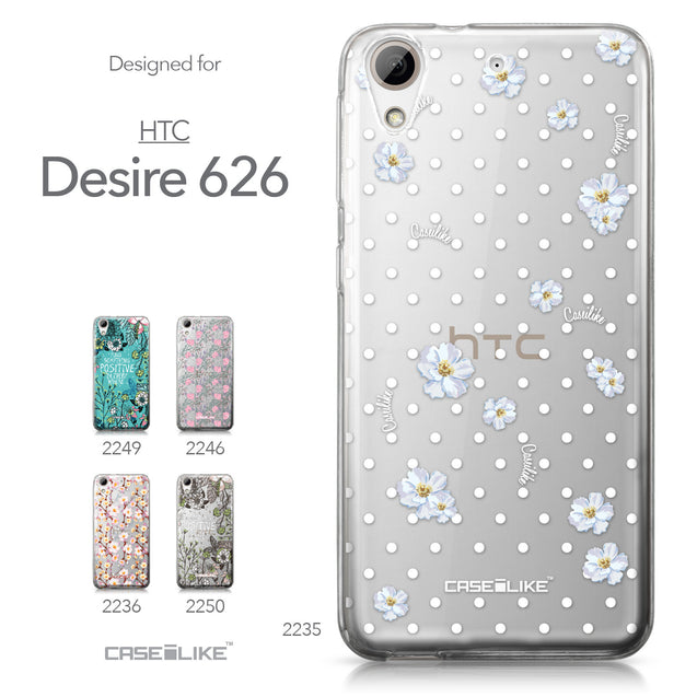 HTC Desire 626 case Watercolor Floral 2235 Collection | CASEiLIKE.com