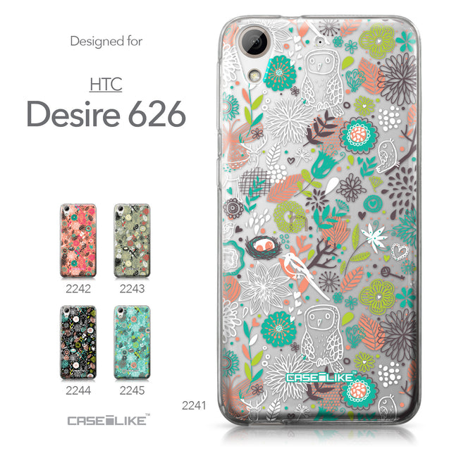HTC Desire 626 case Spring Forest White 2241 Collection | CASEiLIKE.com