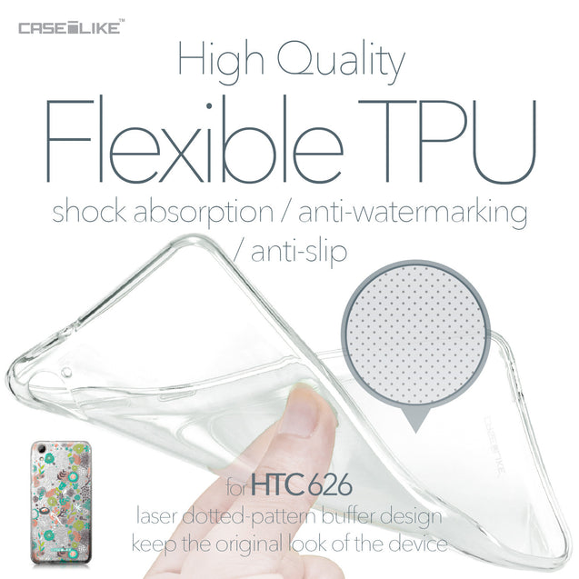 HTC Desire 626 case Spring Forest White 2241 Soft Gel Silicone Case | CASEiLIKE.com