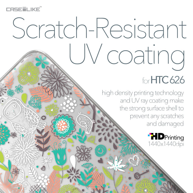 HTC Desire 626 case Spring Forest White 2241 with UV-Coating Scratch-Resistant Case | CASEiLIKE.com
