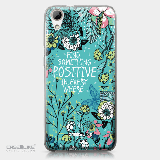 HTC Desire 626 case Blooming Flowers Turquoise 2249 | CASEiLIKE.com