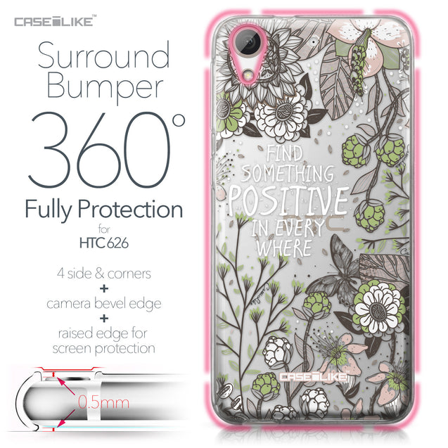 HTC Desire 626 case Blooming Flowers 2250 Bumper Case Protection | CASEiLIKE.com