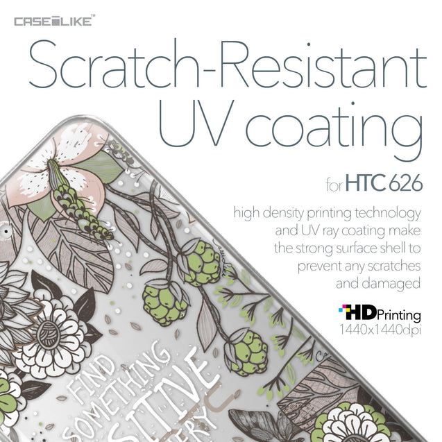 HTC Desire 626 case Blooming Flowers 2250 with UV-Coating Scratch-Resistant Case | CASEiLIKE.com