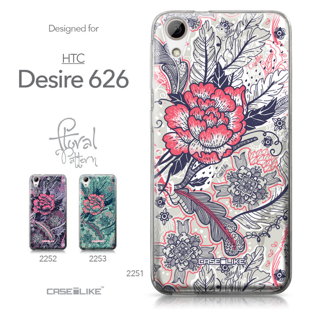 HTC Desire 626 case Vintage Roses and Feathers Beige 2251 Collection | CASEiLIKE.com