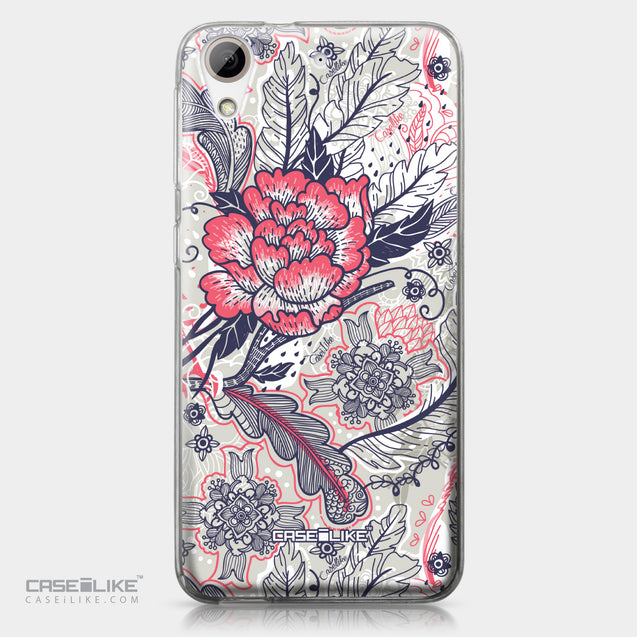 HTC Desire 626 case Vintage Roses and Feathers Beige 2251 | CASEiLIKE.com