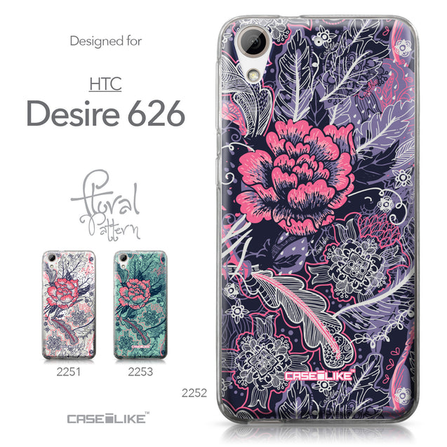 HTC Desire 626 case Vintage Roses and Feathers Blue 2252 Collection | CASEiLIKE.com