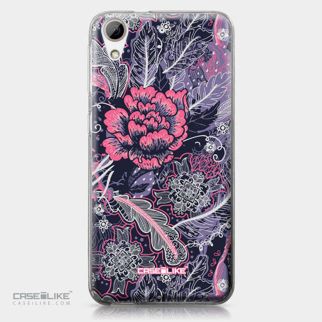 HTC Desire 626 case Vintage Roses and Feathers Blue 2252 | CASEiLIKE.com