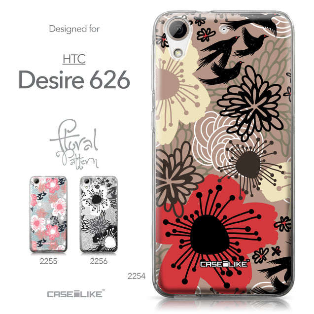 HTC Desire 626 case Japanese Floral 2254 Collection | CASEiLIKE.com