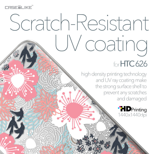 HTC Desire 626 case Japanese Floral 2255 with UV-Coating Scratch-Resistant Case | CASEiLIKE.com