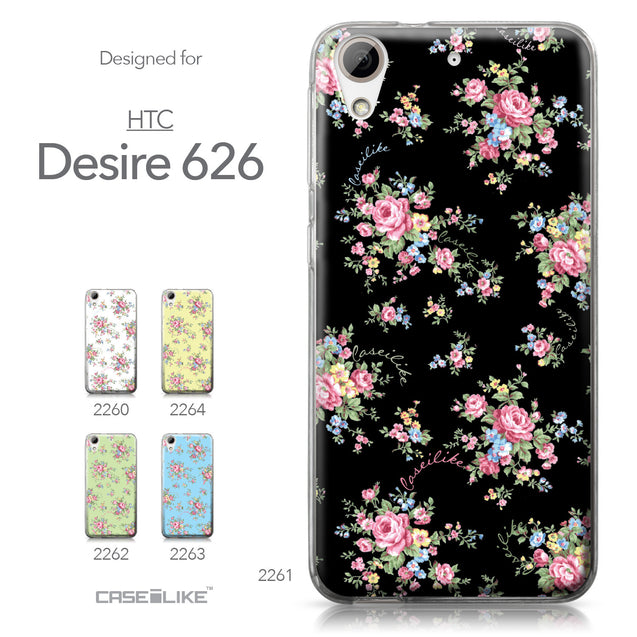 HTC Desire 626 case Floral Rose Classic 2261 Collection | CASEiLIKE.com
