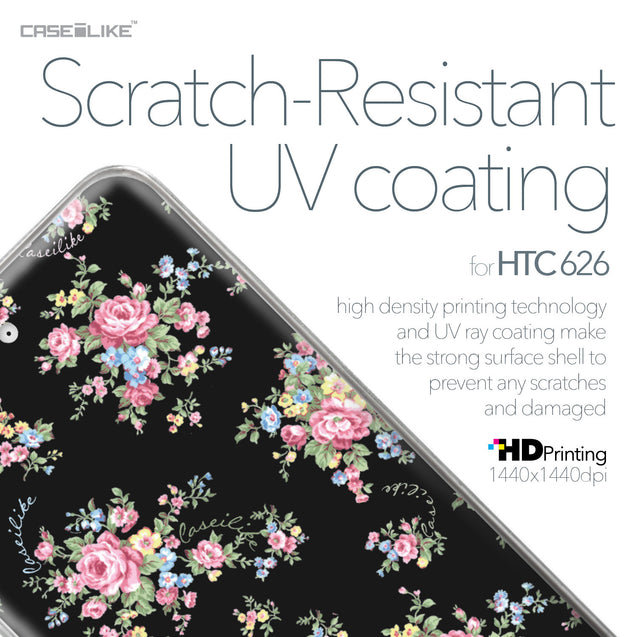 HTC Desire 626 case Floral Rose Classic 2261 with UV-Coating Scratch-Resistant Case | CASEiLIKE.com