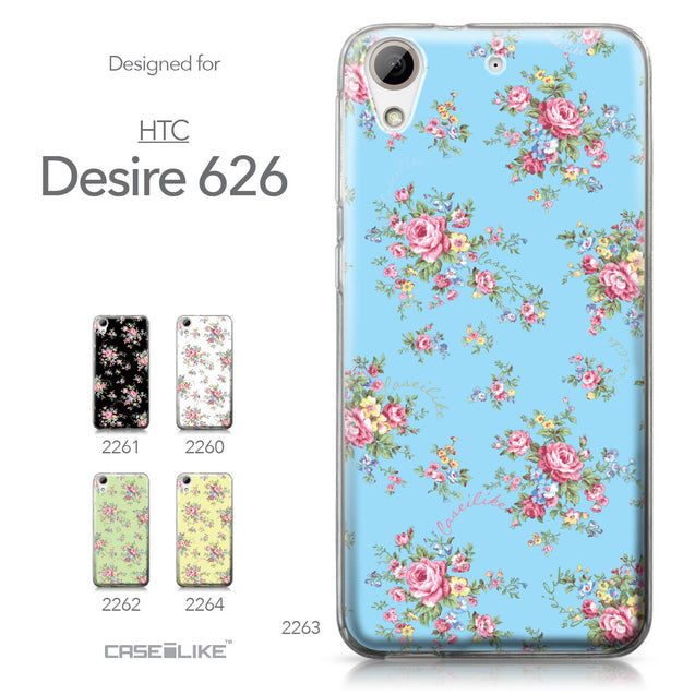 HTC Desire 626 case Floral Rose Classic 2263 Collection | CASEiLIKE.com