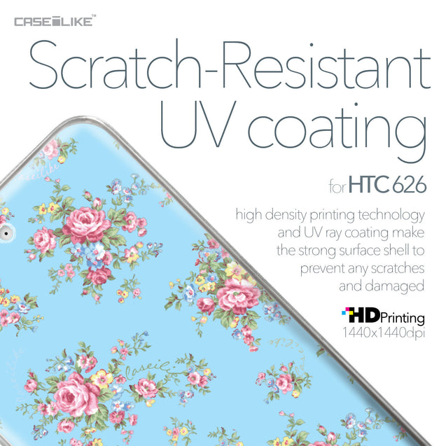 HTC Desire 626 case Floral Rose Classic 2263 with UV-Coating Scratch-Resistant Case | CASEiLIKE.com