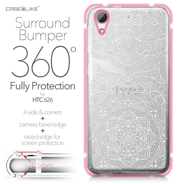 HTC Desire 626 case Mandala Art 2303 Bumper Case Protection | CASEiLIKE.com