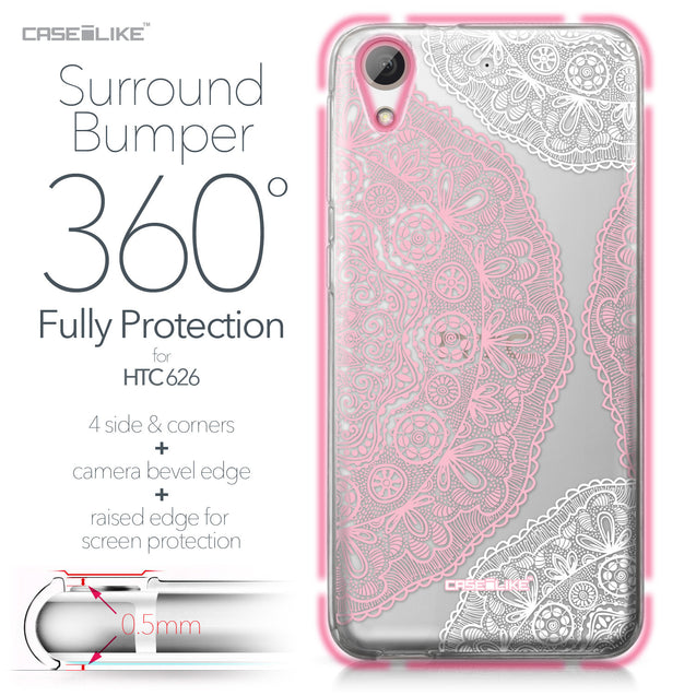 HTC Desire 626 case Mandala Art 2305 Bumper Case Protection | CASEiLIKE.com