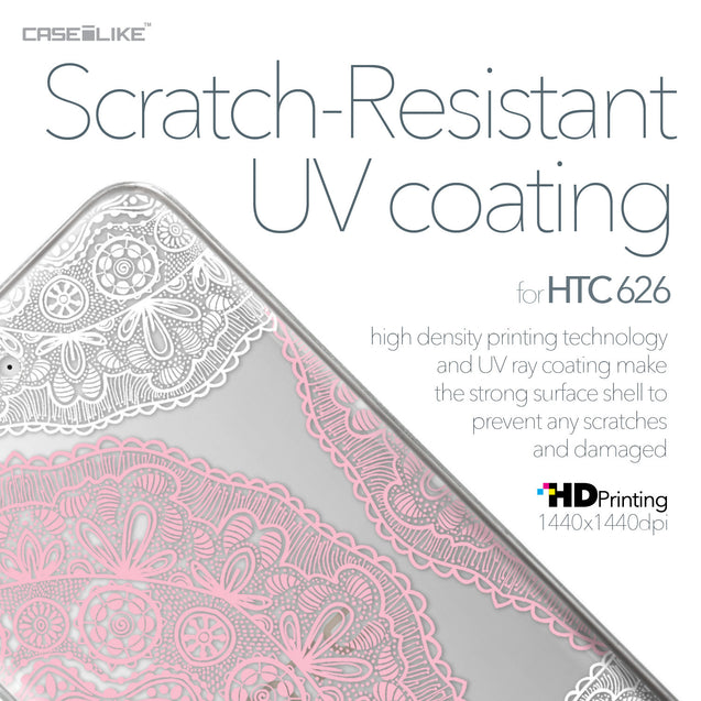HTC Desire 626 case Mandala Art 2305 with UV-Coating Scratch-Resistant Case | CASEiLIKE.com