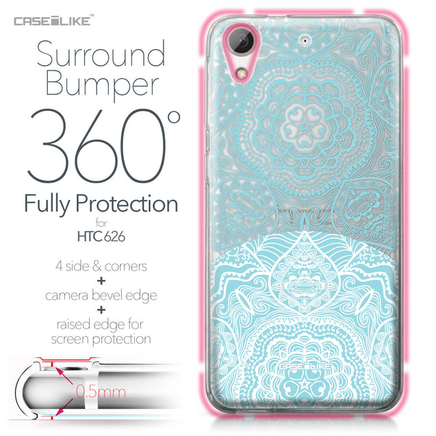 HTC Desire 626 case Mandala Art 2306 Bumper Case Protection | CASEiLIKE.com