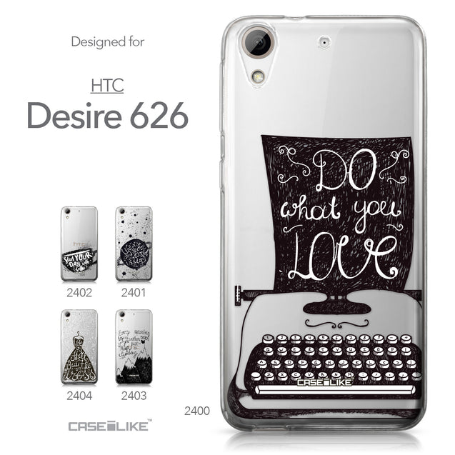 HTC Desire 626 case Quote 2400 Collection | CASEiLIKE.com