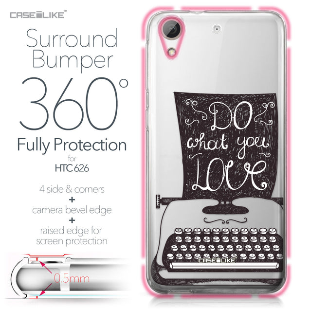 HTC Desire 626 case Quote 2400 Bumper Case Protection | CASEiLIKE.com