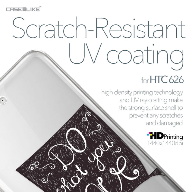 HTC Desire 626 case Quote 2400 with UV-Coating Scratch-Resistant Case | CASEiLIKE.com