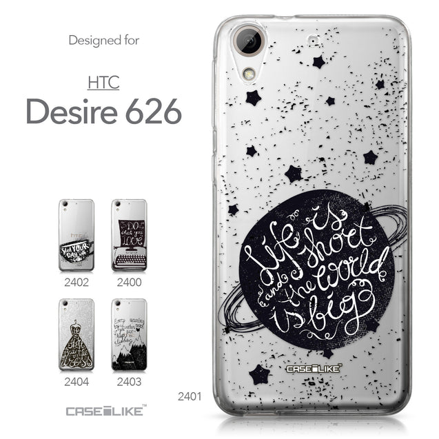 HTC Desire 626 case Quote 2401 Collection | CASEiLIKE.com