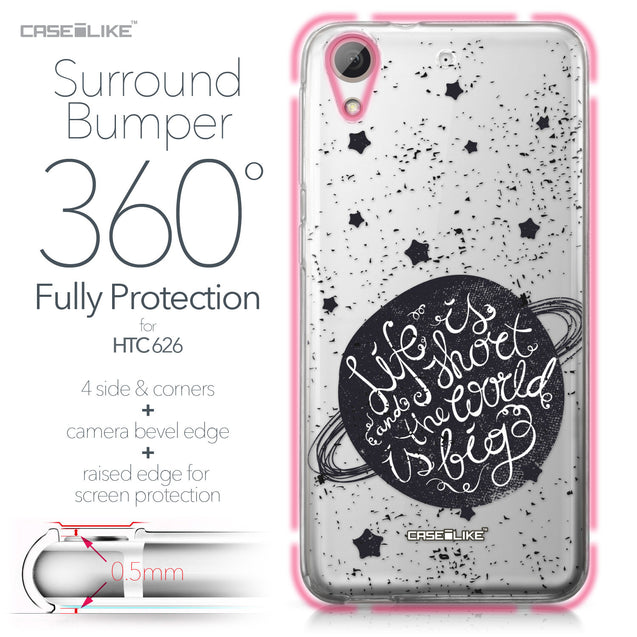 HTC Desire 626 case Quote 2401 Bumper Case Protection | CASEiLIKE.com