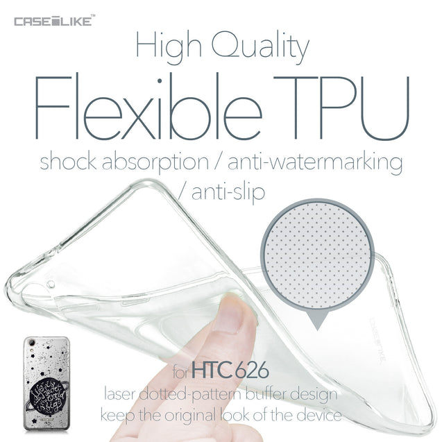 HTC Desire 626 case Quote 2401 Soft Gel Silicone Case | CASEiLIKE.com