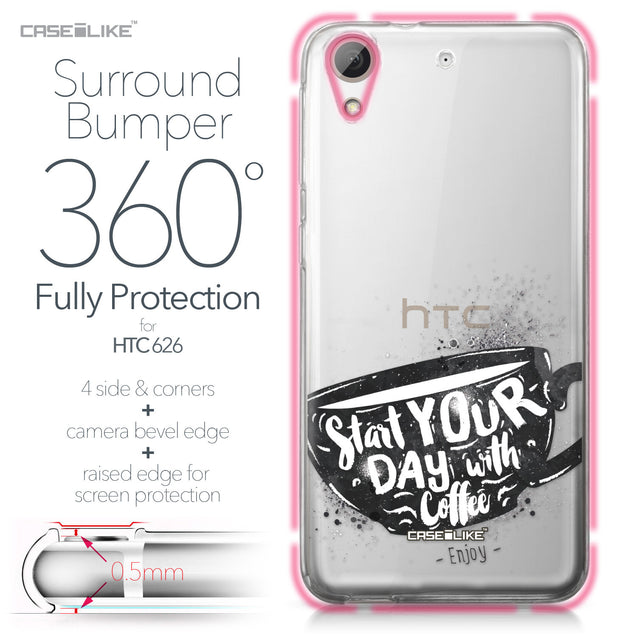 HTC Desire 626 case Quote 2402 Bumper Case Protection | CASEiLIKE.com